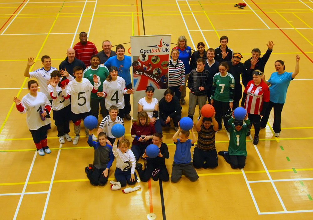 A group of Goalball Players