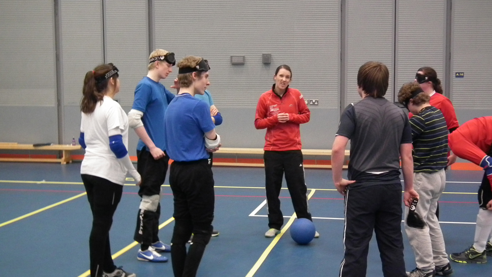 Image of Goalball coaching session