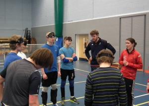 Image of Goalball coaching session